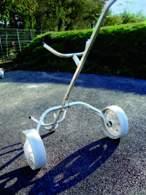 stainless steel golf trolley